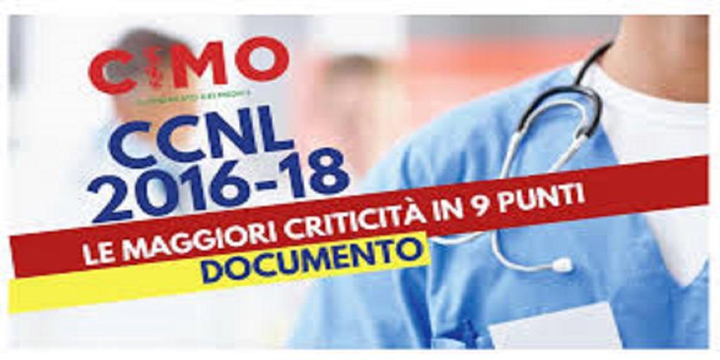 CCNL 2016-18 LE MAGGIORI CRITICITA' IN 9 PUNTI